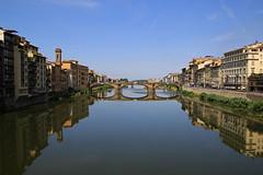 Standing on Ponte Vecchio, Florence Italy 站在義大利佛羅倫斯老橋上 (W. Wilson Chen) Tags: florence italy bridge 佛羅倫斯 arno river