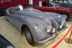 Jaguar XK120 Roadster 1952 (Monde-Auto Passion Photos) Tags: voiture vehicule auto automobile jaguar xk120 roadster spider cabriolet convertible rare rareté ancienne classique vente enchère osenat france fontainebleau gris grey