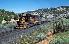 A Helping Hand (jamesbelmont) Tags: riogrande drgw amtrak californiazephyr passenger superliner millfork utah spanishforkcanyon train railroad railway locomotive
