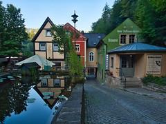 Schmilka Mühle (Naturportal) Tags: panasonic dmcgx8 olympus m1240mm f28 sachsen saxony elbsandsteingebirge sächsische schweiz fachwerk mühle gebäude