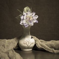 Still Life (DayBreak.Images) Tags: tabletop stilllife vase flower cheese cloth canondslr lomography neptune proteus 80mm ringlight lightroom preset