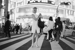 Rie in Shinjuku (Jon Siegel) Tags: nikon fe2 filmcamera film d810 woman girl beautiful japanese japan fashion style shinjuku night evening es2 digitizer happyplanet asiafavorites