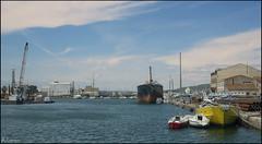 Calma en el puerto. (antoniocamero21) Tags: paisaje puerto mar agua cielo nubes barcos color foto sony atardecer sète francia