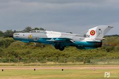 Romanian Air Force MiG-21MF Lancer C (philrdjones) Tags: 2019 6824 7dmkii aircraft airshow avgeek canon coldwar egva ffd fairford fishbed july lancer mig21 mig21mf mikoyan mikoyangurevich raffairford riat romania romanianairforce royalinternationalairtatto