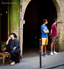 Parisienne afternoon (stewardsonjp1) Tags: woman paris men bar looking streetphotography saturday streetlife marais chilled cafe