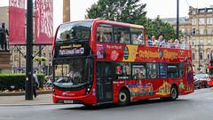 11621 YN66BBZ City Sightseeing Glasgow (busmanscotland) Tags: 11621 yn66bbz city sightseeing glasgow yn66 bbz scania n250ud ad alexander dennis enviro 400 enviro400 mmc borders buses reading