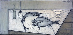 Vascoeuil castle, Bernard Buffet exhibition (Sokleine) Tags: bernardbuffet buffet exhibition exposition museum musée vascoeuil 27 eure normandie normandy painting tableau france heritage art modernart culture peinture frenchheritage femme woman chaise chair oven poêle pink rose gris grey fish poissons turbot espadon