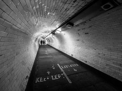 Greenwich Foot Tunnel (davepickettphotographer) Tags: london dockland riverthames river thames uk city street streets cityoflondon eastend england blackandwhitephotography blackandwhite millennium dome greenwich park foot tunnel walk walkway royalboroughofgreenwich eastlondon southbank docklands docks canarywharf islandgardens island gardens nationalcycleroute