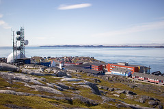 A hillview of Nuuk, Greenland, Denmark, North America (Miraisabellaphotography) Tags: nuuk greenland nature travel adventure travelling august2019 city houses sea