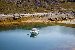 The Lonely Boat, Nuuk, Greenland, Denmark, North America (Miraisabellaphotography) Tags: nuuk greenland nature travel adventure travelling august2019 boat sea kajak