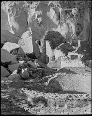 Pueblo Ruins, Chaco Canyon NM (the_ward) Tags: film largeformat analog