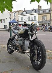 Botanical Beamer ... (Harleynik Rides Again.) Tags: bmw twin bike bobber calnebikemeet motorcycle harleynikridesagain