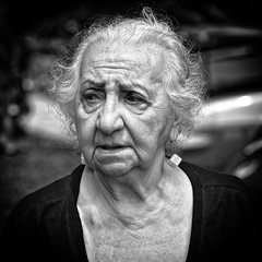 Casual portrait of an 87 year old woman (ABWphoto!) Tags: woman one portrait casual photograph blackandwhite elderly face wrinkled outdoors naturallight