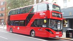 P1170223 BDE2639 LJ19 CVO at Highbury Corner Upper Street Islington London (LJ61 GXN (was LK60 HPJ)) Tags: metroline byd enviro400evcity enviro400ev enviro400city e400ev electric 109m 10900mm bde2639 lj19cvo j42814