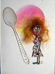 Bring on the cake I'm eating for two. (scrappy annie) Tags: card cardmaking handmade handmadecard handmadecards mixedmedia
