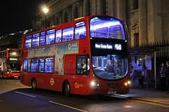 Rare Working: Route N343, Go Ahead London, WHV10, LJ61GXH (Jack Marian) Tags: routen343 goaheadlondon whv10 lj61gxh trafalgarsquare newcrossgate volvo volvob5lh b5lh hybrid wright wrighteclipse eclipse wrighteclipsegemini2 gemini gemini2 buses bus london nightbus