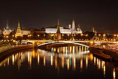 Night Moscow (gubanov77) Tags: night city cityscape landscape urban moskvariver kremlin moscowkremlin moscow russia moscowphotography nightreflection reflection nightlight light bridge bolshoykamennybridge longexposure