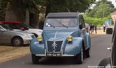 Citroën 2CV 1960 (Wouter Bregman) Tags: 159gj61 citroën 2cv 1960 citroën2cv 2pk eend geit deuche deudeuche 2cv6 blue bleu célébrationcentenairedecitroën célébration centenaire 2019 lafertévidame 28 eureetloire eure et loire france frankrijk vintage old classic french car auto automobile voiture ancienne française vehicle outdoor