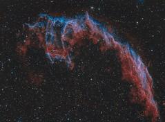 Eastern Veil Nebula (Spacesimon1980) Tags: cosmos universe easternveilnebula qhy9s narrowband deepskyphoto nightsky skyatnight nightphoto longexposurephotography longexposure astrophotography astrophoto ngc6992