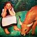 Girl and Ox (1933) - Sarah Affonso (1899-1982)