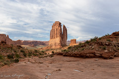 View from Park Avenue Trail, Arches National Park (repete7) Tags: moab utah unitedstatesofamerica archesnationalpark nationalpark parkavenuetrail canyon courthousetowers sandstone slickrock canon canon1635l canon6dmarkii afternoon desert