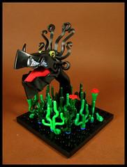 Nekkie the Swamp Monster (Karf Oohlu) Tags: lego moc vignette figure monster swampmonster fantasy swamp beast