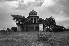 Monsoon Clouds - Leica Elmarit-R 28mm, (Focus Stack) (thomas.pirolt) Tags: leica elmaritr 28mm 28 leitz elmarit india landscape architecture old ancient art moment sony a7 a7ii goverdhan theindiatree blackandwhite bw monocrome mono temple