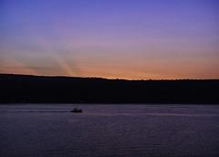 Last Remaining Daylight (LJS74) Tags: sunset sky lake boat dusk keukalake nature water landscape newyorkstate fingerlakes