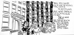 Extermination Now at The Wallaby Arms Apartment Complex 6913 (Brechtbug) Tags: the spinsters secret lair aka wallaby arms apartment complex in process bug extermination dark gran lady villain or hero super woman mystery heroes women senior ladies comic strip cartoon character comics cartoons danger dangerous mysterious doom attitude beware elderly older old nan nanny granny 2019 nyc 08032019 originally created 1995 90s 1990s for animation night nite tent