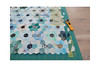 Cut, sew and repeat (balu51) Tags: patchwork sewing quilting quilt quilttop wip scrappyflowerquilt hexagons stashsewing ruler rotarycutter green blue teal aqua black grey white linen scraps stash juni 2019 copyrightbybalu51
