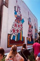 """I Lift My Lamp Beside the Golden Door,"" by Dorothy Iannone (inuhigurashi115) Tags: nychighline nyc newyorkcity newyork americanart murals statueofliberty iliftmylampbesidethegoldendoor dorothyiannone"
