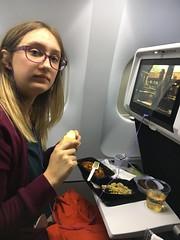 dinner on AirFrance flight (corsi photo) Tags: airfrance plane flight airplane food