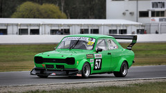 Green FORDs (2 of 2) (Jungle Jack Movements (ferroequinologist) all righ) Tags: green for capri escort mark 1 dog bone eddie metz tim craig winton festival speed vic victoria australia historic sports sedans motor racing pass race car cars hottie track practice pole position times timing hard competition competitive event saloon racer driver mechanic engine oil petrol build fast faster fastest grid circuit drive helmet marshal starter sponsor number class motorsport classic open wheeler raceway