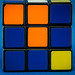 Complementary Colours:  Rubik blue and orange plus a dash of yellow