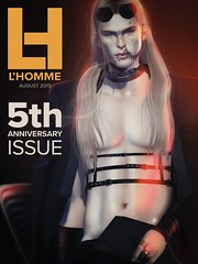 L'Homme cover august 2019 (Skip Staheli *11 YEARS SL PHOTOGRAPHY*) Tags: hikaruenimo skipstaheli lhomme cover fashion secondlife sl