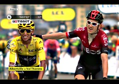 2019 TDF Change of Power! (Sallanches 1964) Tags: tourdefrance 2019 eganbernal geraintthomas tourdefrancewinners yellowjersey mountainstage colombia