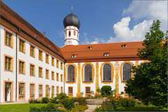 Kloster Beuerberg, Bayern (Janos Kertesz) Tags: bavaria germany architecture building tower old europe sky ancient medieval city roof historic blue town klosterbeuerberg beuerberg bayern religion