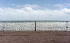 Sea View 1 (Cirrusgazer) Tags: england hastings sussex blue blueandwhite coast division horizon promenade railings sea seaview seaside sky summer symmetry landscape seascape inexplore explore