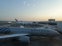 201907001 New York City Queens JFK airport with Alitalia and Air France airplanes (taigatrommelchen) Tags: 20190730 usa ny newyork newyorkcity nyc queens sky dusk airport airplane tower jfk kjfk afr aza