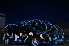 Night Seat Trip (pap1tyy) Tags: bulgaria seat cupra tuning stance stage6 leon night light trip magic blue color brembo
