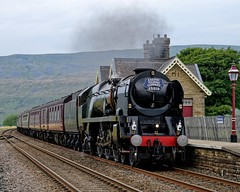 35018: Drifting (Gerald Nicholl) Tags: 35018 britishindialine bil ribblehead settle carlisle bulleid merchantnavy cumbrianmountainexpress cme express steam train loco engine locomotive rtc wcrc railwaytouringcompany