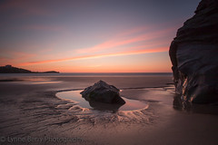 I WOULD LEAVE THE LIGHT ON (lynneberry57) Tags: beach cornwall newquay summerholiday sunset colours pink coast water sea tide sand pool reflection pattern vista scene scenic longexposure canon 70d leefilters iwouldleavethelighton