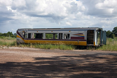 Written Off (jamesmp) Tags: queenslandrail qrtraveltrain walkersltd mtu dieseltilttrain dieseltilttrainlocomotive dieselhydrauliclocomotive dieseltrain highspeedtrain tilttrain longdistancetrain train railway locomotive widebayregion queensland australia