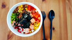 Poke Bowl, Petaling Jaya (alfredsridar) Tags: healthy poke bowl above colourful dining fish seaweed hawaii hawaiian lunch nobody overhead rice trend buddha