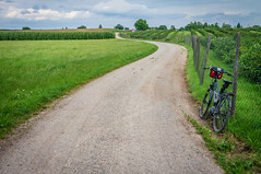 Bavarian Countryside (suzanne~) Tags: bavaria germany field road agriculture summer bike bicycle
