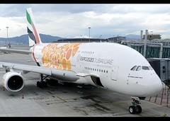 A380-861 | Emirates | EXPO 2020 Opportunity Orange | A6-EOV | HKG (Christian Junker | Photography) Tags: nikon nikkor d800 d800e china plane hongkong airport aircraft aviation uae super emirates airline airbus a380 ek dslr hkg sar aero 380 clk widebody planespotting cheklapkok 2470mm hkia hongkonginternationalairport vhhh a380800 a388 a380861 ek383 a6eov uae383 emirates383 asia lantau hongkongphotos flickraward zensational worldtrekker flickrtravelaward superflickers christianjunker gate airside n62 206 terminal1 t1 speciallivery specialscheme specialcolour expo2020 opportunityorange