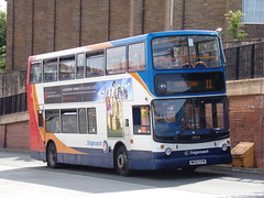 Stagecoach Dennis Trident (Alexander ALX400) 17717 MK02 EFW (Alex S. Transport Photography) Tags: bus outdoor road vehicle stagecoach stagecoacheastmidlands dennistrident trident route11 17717 mk02efw alx400 alexanderalx400