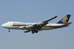 9V-SFM Boeing 747-412F Singapore Airlines Cargo @ Schiphol 26-Jul-2019 by Johan Hetebrij (Balloony Dutchman) Tags: 9vsfm boeing 747412f singapore airlines cargo sia 747 b747 747400 747400f eham ams amsterdam schiphol airport aircraft 2019