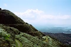 Mountain tops. (蒼白的路易斯) Tags: taiwan taipei landscape mines 礦場 九份 瑞芳 kodakvision350d kodak yashicaelectro35gsn yashica 底片攝影 底片