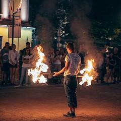 Фаер-шоу на Адмиралтейской набережной // Fire show on Admiralteyskaya embankment, Saint Petersburg (Alexx053) Tags: fireshow evening fire